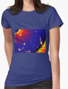 Psychedelic Sunburst Womens Fitted T-Shirt