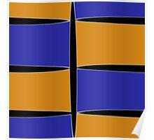 Blue and Orange Geometric Poster