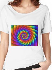Psychedelic Rainbow Spiral Women's Relaxed Fit T-Shirt