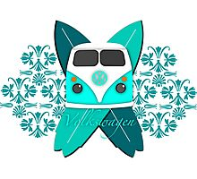 Cool as a cucumber VW camper  Photographic Print