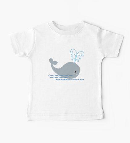 Whale Spouting Water Baby Tee