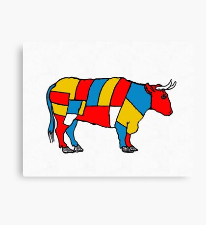 Mondrian Cow Canvas Print