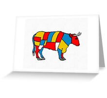 Mondrian Cow Greeting Card