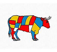Mondrian Cow Photographic Print
