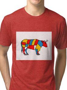 Mondrian Cow Tri-blend T-Shirt