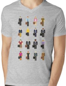 The Office: Characters Mens V-Neck T-Shirt
