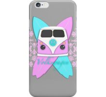 Pink and Cool Blue Camper and Crossed Boards iPhone Case/Skin