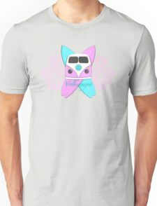 Pink and Cool Blue Camper and Crossed Boards Unisex T-Shirt
