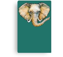 Floating Elephant Head - colorized Canvas Print