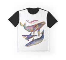 Four Whales Pyramid Graphic T-Shirt