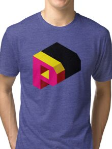 Letter P Isometric Graphic Tri-blend T-Shirt