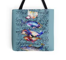 Whales-Five of them-with words Tote Bag