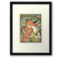 The Red-Haired Lady (Ermitage) art nouveau masterpiece Framed Print