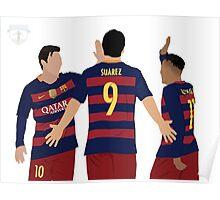 Messi, Neymar and Suarez Poster