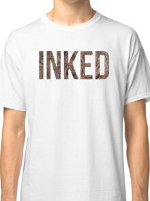 Inked - Tattoo Design - on white Classic T-Shirt