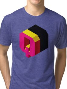 Letter Q Isometric Graphic Tri-blend T-Shirt