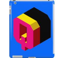 Letter Q Isometric Graphic iPad Case/Skin
