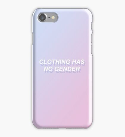 ♥♥♥ CLOTHING HAS NO GENDER ♥♥♥  iPhone Case/Skin