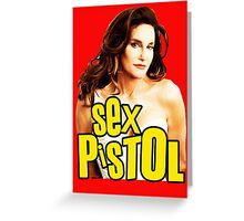Caitlyn Sexy Pistol 2 Greeting Card