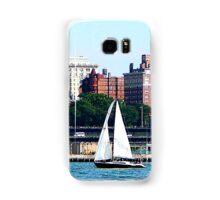 New York - Sailboat Against Manhattan Skyline Samsung Galaxy Case/Skin