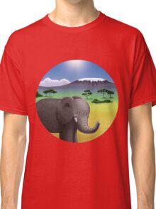 Cute Elephant in Africa Classic T-Shirt