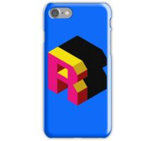 Letter R Isometric Graphic iPhone Case/Skin