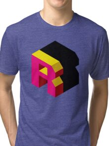 Letter R Isometric Graphic Tri-blend T-Shirt