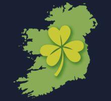 IRELAND map with a shamrock Kids Tee