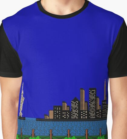 Punch Out Night Scene Graphic T-Shirt