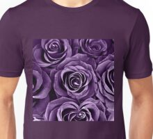 Rose Bouquet in Purple Unisex T-Shirt