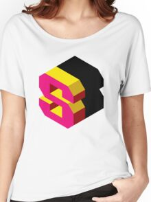 Letter S Isometric Graphic Women's Relaxed Fit T-Shirt