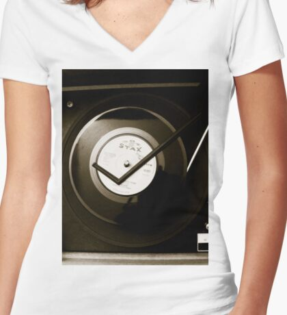 Decca Women's Fitted V-Neck T-Shirt