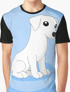 White Dog Graphic T-Shirt