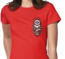 old school owl Womens Fitted T-Shirt