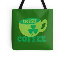 Irish Coffee with cute mug and shamrock Tote Bag