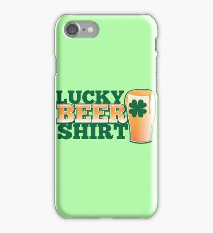 Lucky BEER shirt iPhone Case/Skin