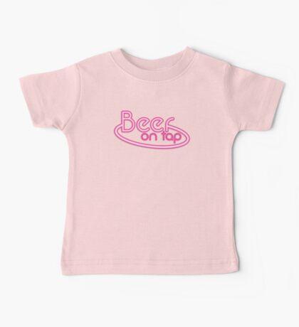 BEER on TAP Fluro sign design Baby Tee