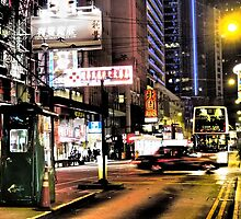 a blurry night in Hong Kong by LoveDutchArtEbs