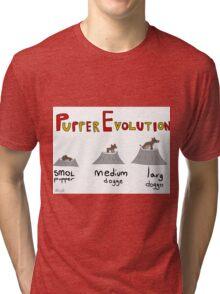 Pupper Evolution:  A Smol Pupper Comic Tri-blend T-Shirt