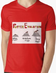 Pupper Evolution:  A Smol Pupper Comic Mens V-Neck T-Shirt