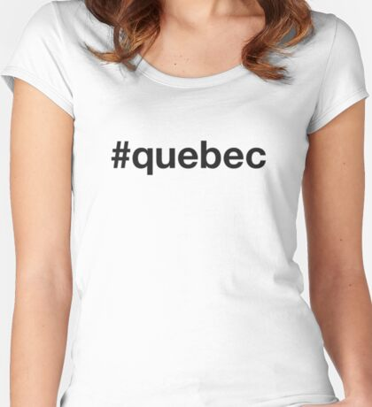QUEBEC Women's Fitted Scoop T-Shirt