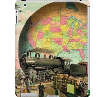 1910 Modern transportation train, truck, plane, ship, globe iPad Case/Skin
