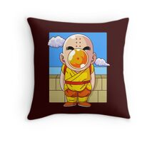 Crilin and Magritte Throw Pillow