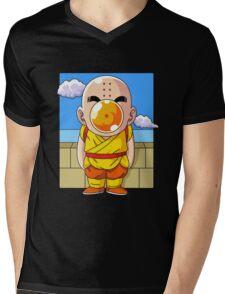 Crilin and Magritte Mens V-Neck T-Shirt