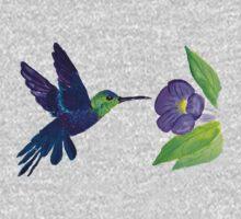 Hummingbirds One Piece - Long Sleeve