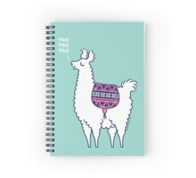 Aztec Alpaca - meh meh meh Spiral Notebook