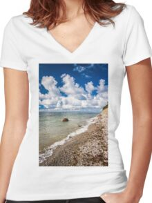 Pure nature Women's Fitted V-Neck T-Shirt