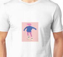 Peach Skater Girl Unisex T-Shirt