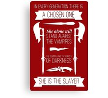 Buffy the Vampire Slayer - Chosen One Canvas Print