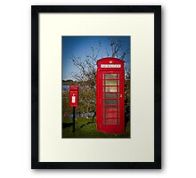 Telephone and Letters Framed Print